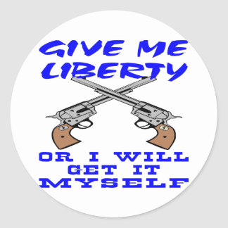 White Give Me Liberty Get Myself Stickers