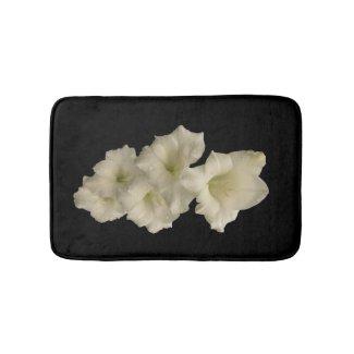 White Gladiola Flower Bath Mats