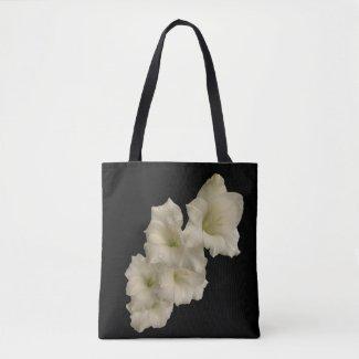 White Gladiola Garden Flower Floral Tote Bag
