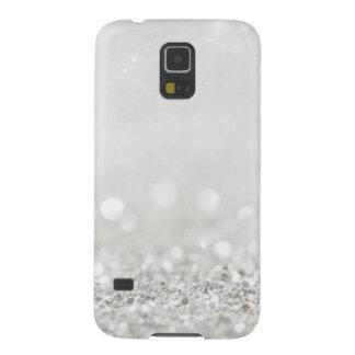 White Glitter Case For Galaxy S5