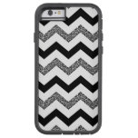 White Glitter Chevron iPhone 6/6s Phone Case