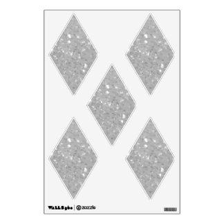 White Glittery Look Diamond: Wall Decals