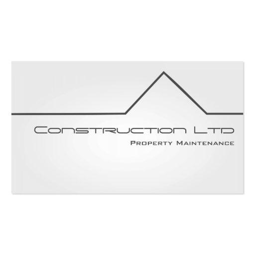 White glow property maintenance business card zazzle for Property maintenance business cards