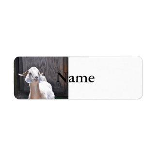 White goat label