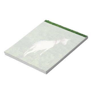 White goat notepad