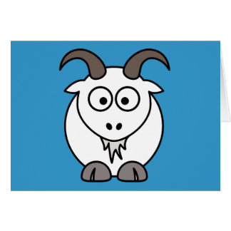 White Goat selection Greeting Card