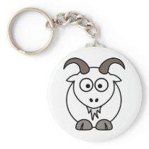 White Goat selection Keychain
