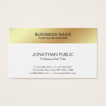 Lawyer Themed White Gold Design Elegant Modern Company Sleek Business Card