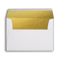 White Gold Envelope Elegant Modern Birthday