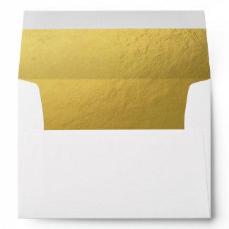 White Gold Envelope Elegant Modern Birthday