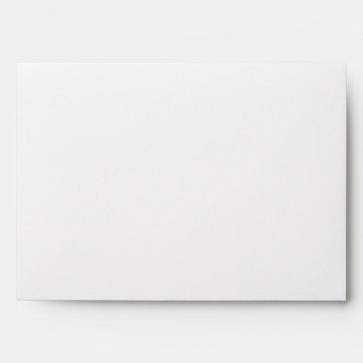 WHITE & GOLD GLITTER 5x7 Personalized Envelope
