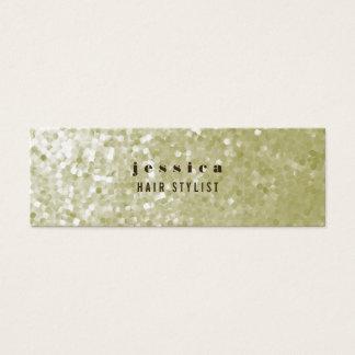 White Gold Glitter Sequin Hair Stylist Skinny Card