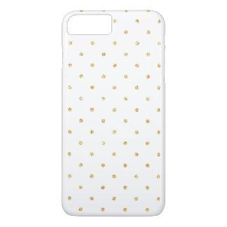 White Gold Glitter Small Polka Dots Pattern iPhone 8 Plus/7 Plus Case