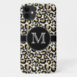 White & Gold Leopard iPhone 11 Case