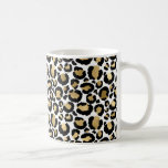 White & Gold Leopard Coffee Mug