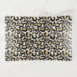 White & Gold Leopard Glass Trinket Trays