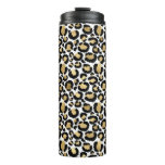 White & Gold Leopard Thermal Tumbler