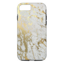 White & Gold Marble iPhone 8/7 Case