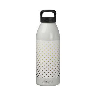 White Gold Polka Dot Drinking Bottles