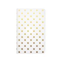 White Gold Polka Dot Journal
