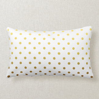 White Gold Polka Dot Lumbar Pillow
