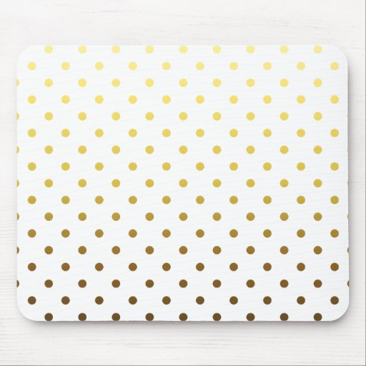 White Gold Polka Dot Mousepad