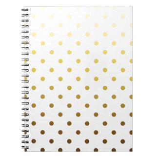 White Gold Polka Dot Note Books