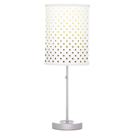 white gold polka dot table lamp zazzle. Black Bedroom Furniture Sets. Home Design Ideas