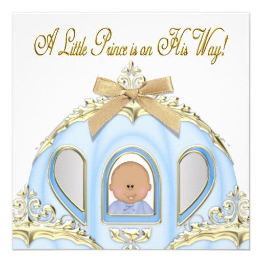 white gold prince baby shower invitations zazzle
