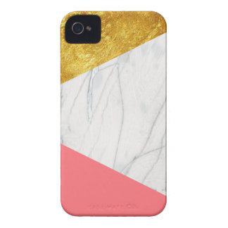 White Gold Salmon Marble iPhone 4 Cover