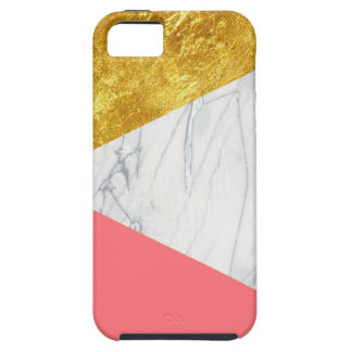 White Gold Salmon Marble iPhone SE/5/5s Case