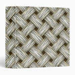 White Gold Weave 3 Ring Binders