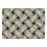White Gold Weave Cards