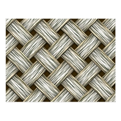 White Gold Weave Post Cards