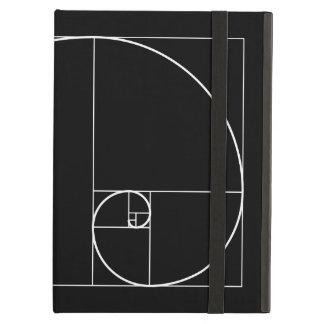 White Golden Spiral iPad Air Cases