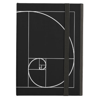 White Golden Spiral iPad Air Cover
