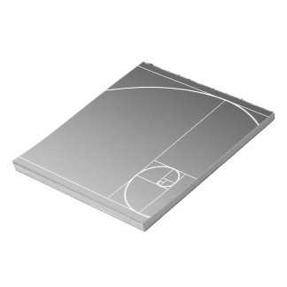 White Golden Spiral Notepad