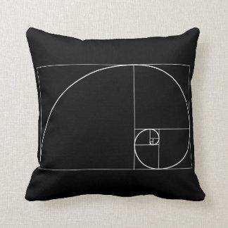 White Golden Spiral Pillow
