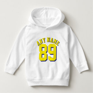 White & Golden Yellow Toddler | Sports Jersey Hoodie