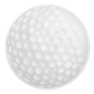 White Golf Ball Design Ceramic Knob