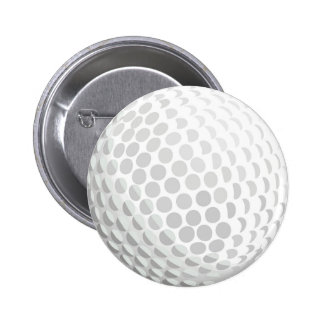 White golf ball for golfer - handicap or not! button