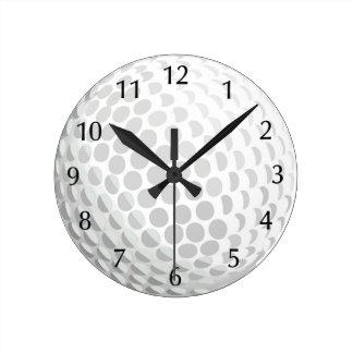 White golf ball for golfer - handicap or not! wallclock