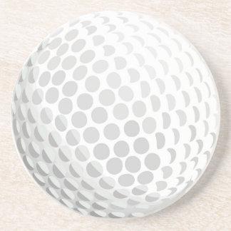 White golf ball for golfer - handicap or not! coaster