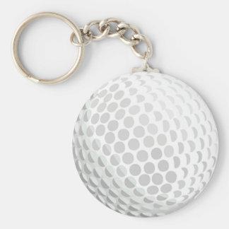 White golf ball for golfer - handicap or not! key chain