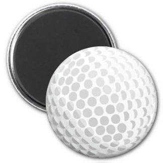 White golf ball for golfer - handicap or not! magnet
