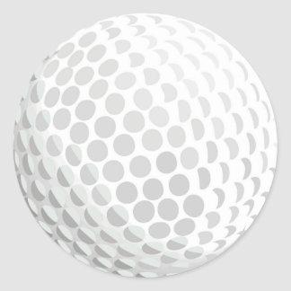White golf ball for golfer - handicap or not! round stickers