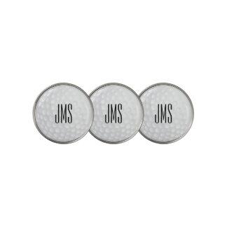 White Golf Ball - Monogram Golf Ball Marker