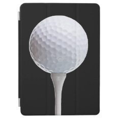 White Golf Ball Sports Template Ipad Air Cover at Zazzle