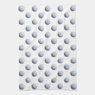White Golf Balls Background Ball Sport Pattern Hand Towel