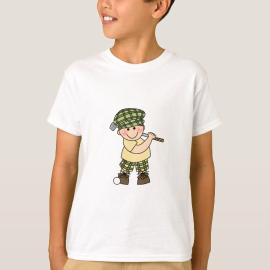 White Golfer Boy T-Shirt